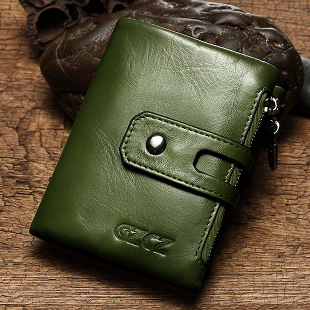 GZCZ Women Wallet Mini Zipper Money Bag Genuine Leather Female Small Wallets Lady Vallet Coin Purse Card Holder Perse Portomonee