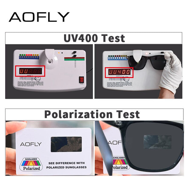 AOFLY Classic Polarized Sunglasses Fashion Style Sun Glasses for Men/Women Vintage Brand Designer oculos de sol masculino UV400
