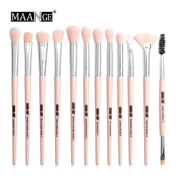 Makeup brushes set professional 12 pcs/lot Makeup Brushes Set Eye Shadow Blending Eyeliner Eyelash Eyebrow Brush For Makeup Tool - Roshyshine