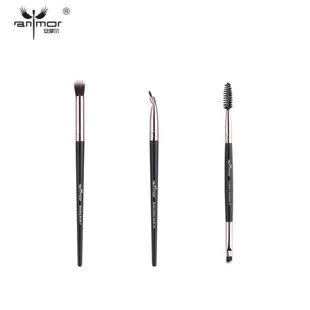 Anmor Makeup Brushes Set 3-12pcs/lot Eye Shadow Blending Eyeliner Eyelash Eyebrow Make up Brushes  Professional Eyeshadow Brush - Roshyshine