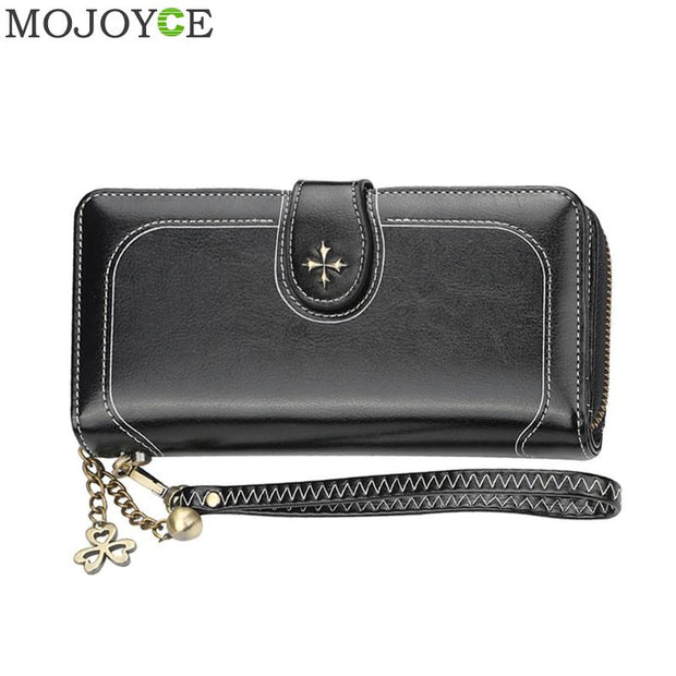 Women Wallets Split Leather Purses with Long Clutch  Purse Money Bag Phone Wallet Card Holder