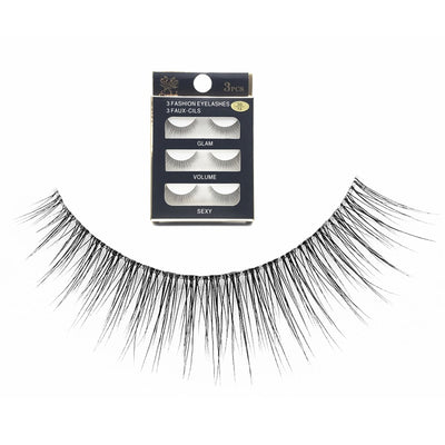 NEW False Eyelashes 3 Pairs Pure Handmade Natural Transparent Terrier Fake Eyelashes Short Paragraph Bare Makeup Eyelashes