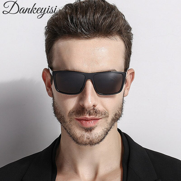 DANKEYISI Polarized Sunglasses Men Sunglasses Women Square Brand Designer Polaroid Retro Sunglasses UV400 Mirror Eyewear Male