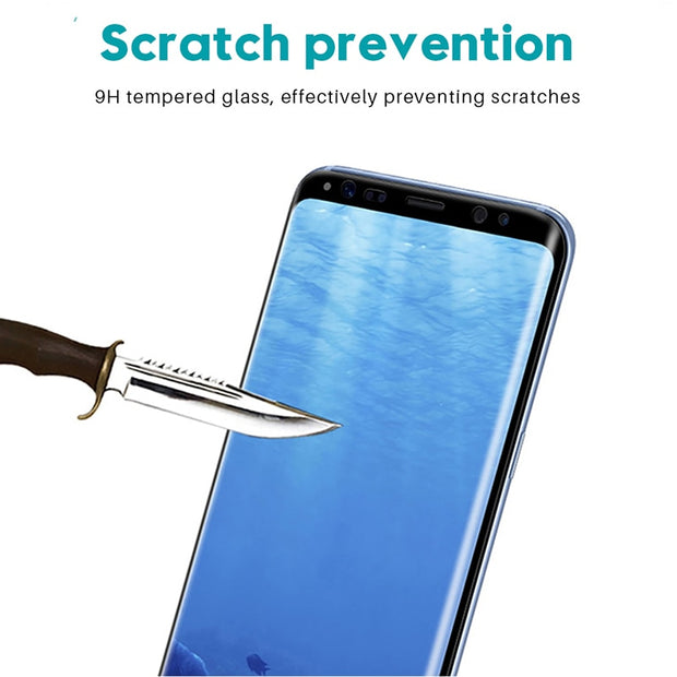 Tempered Glass Film For Samsung Galaxy Note 8 9 S9 S8 Plus S7 Edge 9D Full Curved Screen Protector For Samsung A6 A8 Plus 2018 - Roshyshine