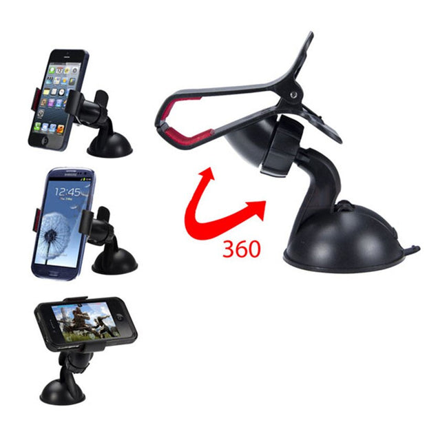 Hot Sale Universal Car Phone Holder Car Windshield Mount Holder phone For iPhone X/6S/SE/7 MP3 GPS for Samsung note 8 accessorie