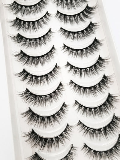 NEW 3/5/10 pairs natural false eyelashes fake lashes long makeup 3d mink lashes extension eyelash mink eyelashes for beauty 54