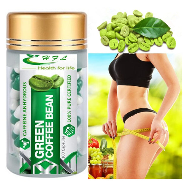Green coffee Been Extract, Supports Natural Weight Loss supplement, All Natural 100 Capsules - Roshyshine