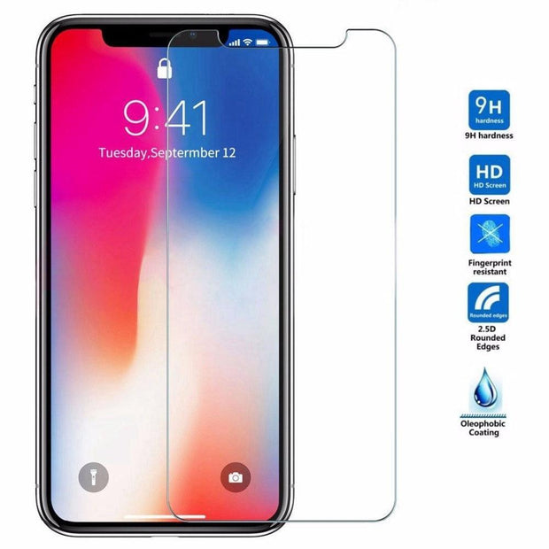 9H HD Tempered Glass For iphone X XS 11 Pro Max XR 7 8 Screen Protector 5s protective Glass on iphone 7 8 6s Plus X 11 Pro glass - Roshyshine