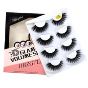HBZGTLAD 2/4 pairs natural false eyelashes fake lashes long makeup 3d mink lashes eyelash extension mink eyelashes for beauty