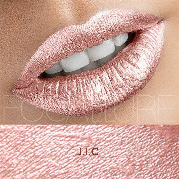FOCALLURE Matte Lipgloss Sexy Liquid Lip Gloss Matte Long Lasting Waterproof Cosmetic Beauty Keep 24 Hours Makeup lipgloss - Roshyshine