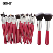 MAANGE 20/22Pcs Beauty Makeup Brushes Set Cosmetic Foundation Powder Blush Eye Shadow Lip Blend Make Up Brush Tool Kit Maquiagem - Roshyshine