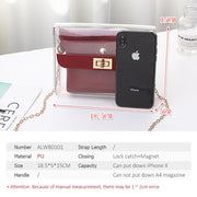2019 Women Shoulder bag PVC jelly bag female New Fashion Cool Lock Chain Mini Crossbody Messenger Bags for Girls Children