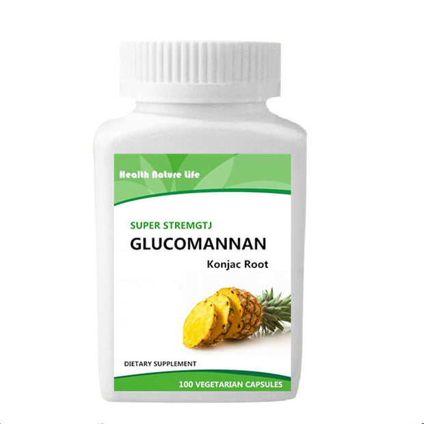 Glucomannan  Fast Natural Weight Loss supplement Super Strength 500 mg capsules - Roshyshine