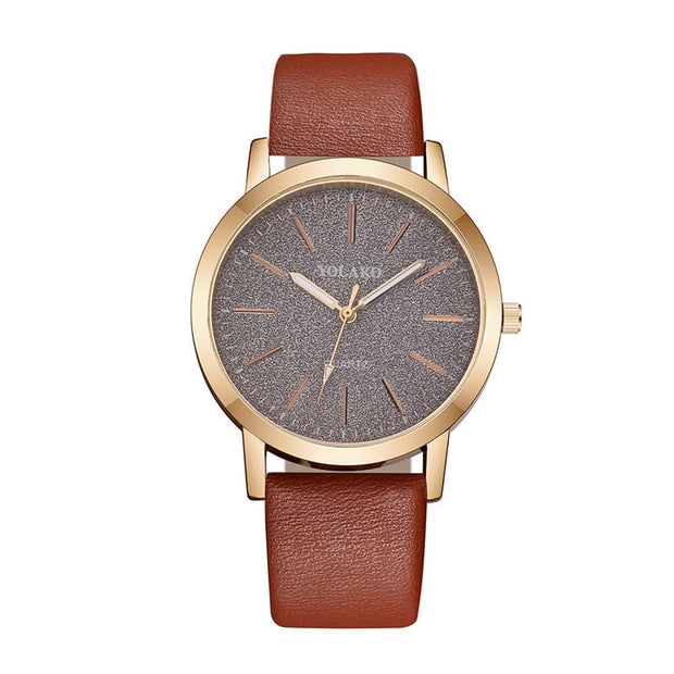 Luxury Brand Leather Quartz Women's Watch Ladies Fashion Watch Women Wristwatches Clock relogio feminino masculino #A - Roshyshine