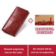 Women Leather Fashion Clutch Wallet, Ladies Coin Purse,  Phone Bag Long Lady Handy Card  Holder