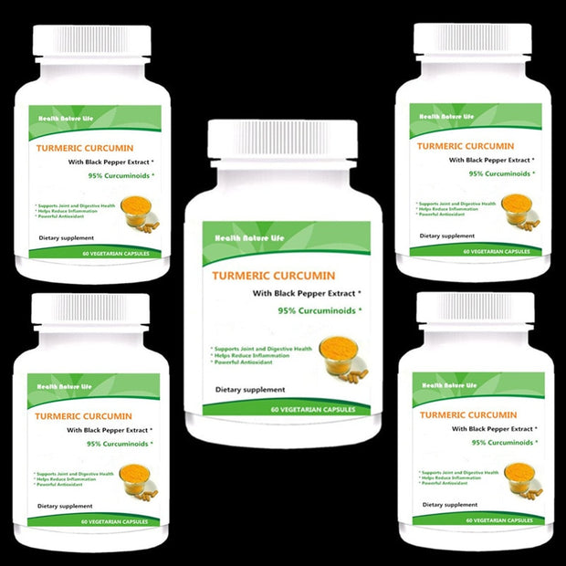 Pure Turmeric Curcumin 1300mg with Black Pepper Extract - 95% Curcuminoids, Natural Anti-Inflammatory Joint Pain - Roshyshine