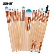 MAANGE Pro 15Pcs Makeup Brushes Set Eye Shadow Foundation Powder Eyeliner Eyelash Lip Make Up Brush Cosmetic Beauty Tool Kit Hot - Roshyshine