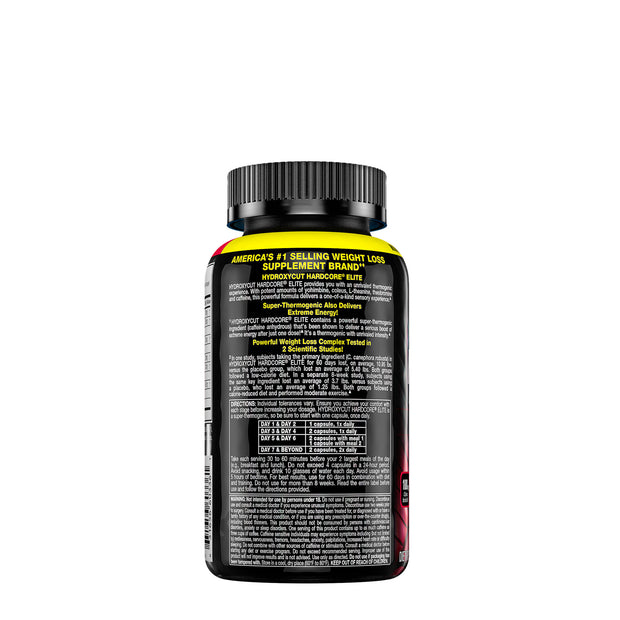 Hydroxycut Hardcore Elite Capsules for Weight Loss and Energy Booster - Natural ingredients - Roshyshine