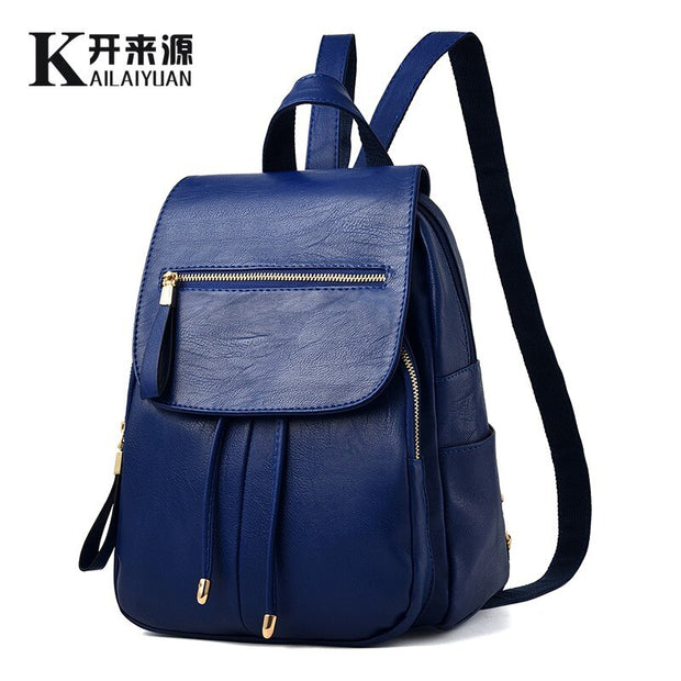 Women leather  backpack 2020 New Female backpack spring and summer student fashion casual backpack