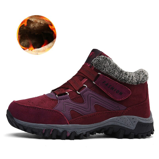 Men Boots, Winter Warm Snow Boots, Plush Waterproof High Quality Comfortable Work Safety Shoes