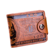 Men Leather Wallet  Purse Short Male Clutch Leather Wallet Mens Money Bag Quality