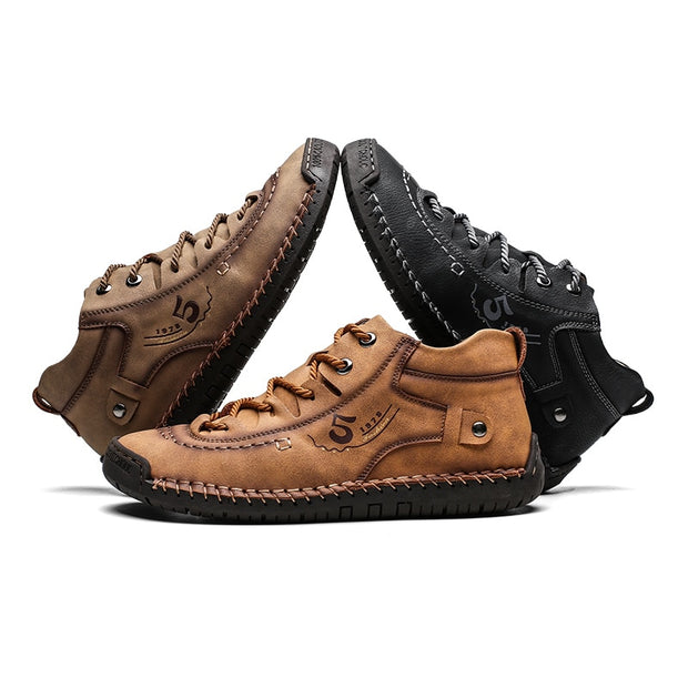 ZUNYU Leather Men Casual Shoes British Style Comfortable Men Fashion Walking Shoes Big Size Brown Black Man Soft Flat Footwear - Roshyshine
