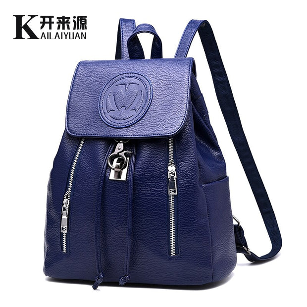 Women leather backpack 2020 female backpack spring and summer fashion casual Style