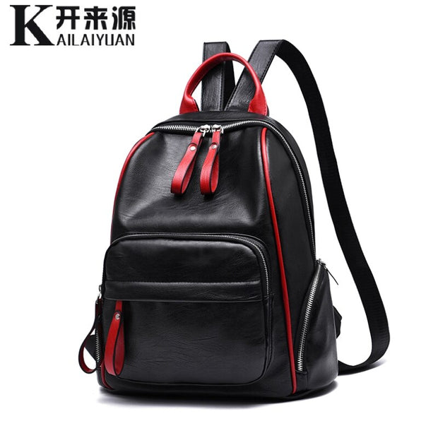 Women leather Backpack 2020 New Lady Student Backpack Fashion Casual Backpack shoulder bag