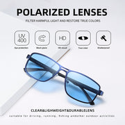 AOFLY Brand 2020 Fashion Sunglasses Men Polarized Square Metal Frame Male Sun Glasses Driving Fishing Eyewear zonnebril heren
