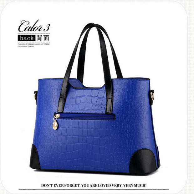 100% Genuine leather Women handbags 2019 New female bag fashion fresh spell color picture package Messenger shoulder bag