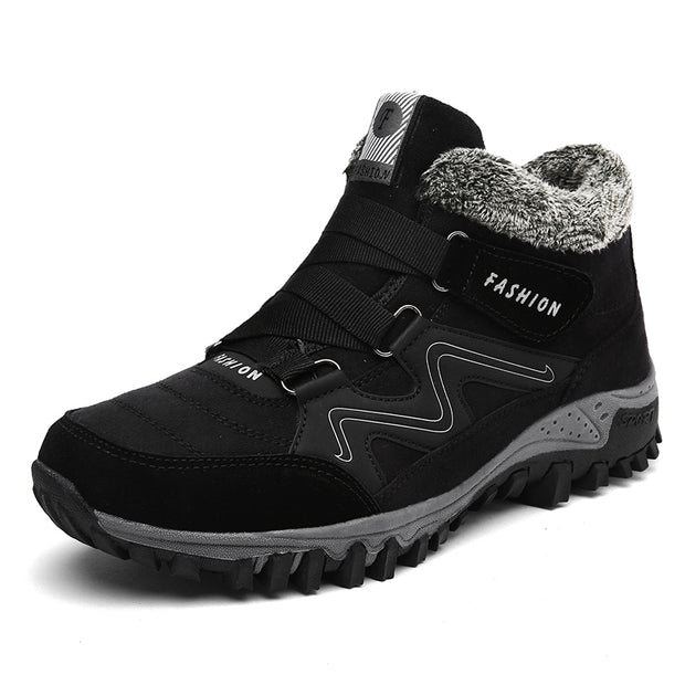 Men Winter Warm Snow Boots With Waterproof Shoes, Men Comfortable Casual Shoes,  Men Ankle Boots Outdoor