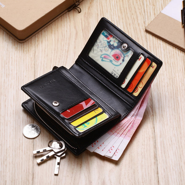 Brand Wallet Men Leather Men Wallets Purse Short Male Clutch Leather Wallet Mens Money Bag Quality Guarantee Carteira Business