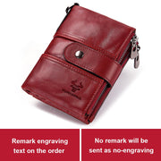 Women Leather Wallet, Female Coin Purse with  Small Card Holder Fashion