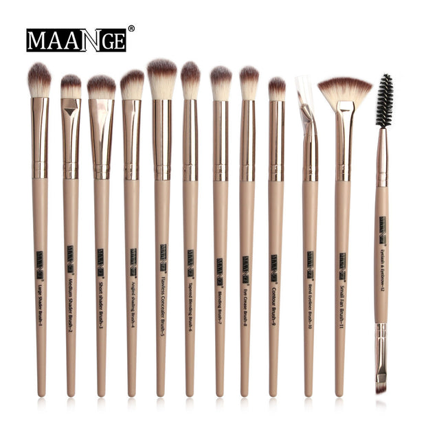 MAANGE Pro  3/5/12 pcs/lot  Makeup Brushes Set Eye Shadow Blending Eyeliner Eyelash Eyebrow Brushes For Makeup New - Roshyshine