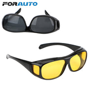 FORAUTO Night Vision Driver Goggles Unisex HD Vision Sun Glasses Car Driving Glasses UV Protection Sunglasses Eyewear - Roshyshine