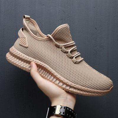 Men Sneakers Black Mesh Breathable Running Sport Shoes Male Lace Up Non-slip Men Low Athletic Sneakers Casual Men Shoes - Roshyshine