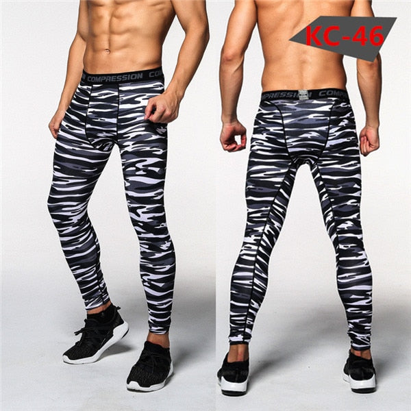 Mens Compression Pants 2016 New Fitness Tights Men Bodybuilding Pants Trousers Camouflage Joggers - Roshyshine