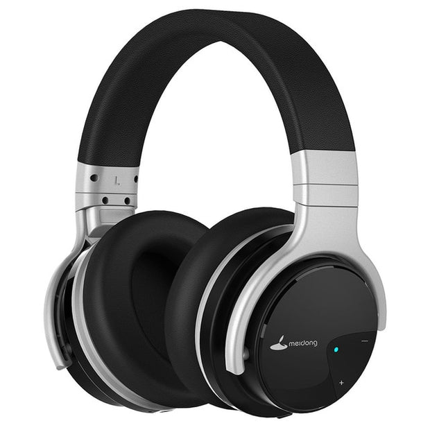 Meidong E7B Bluetooth Headphones Active Noise Cancelling Headphone Wireless Headset 30 hours Over ear with microphone Deep bass - Roshyshine