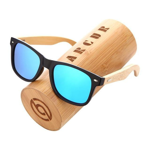 BARCUR Polarized Bamboo Sunglasses Men Wooden Sun glasses Women Brand Original Wood Glasses Oculos de sol masculino - Roshyshine