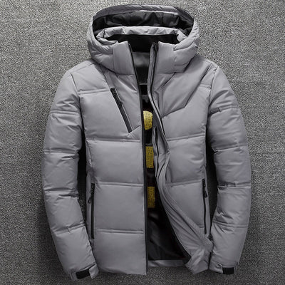 Men Winter Down Thick Warm Jacket with  Hooded Warm Parkas - Roshyshine