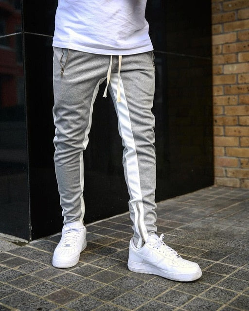 Mens Joggers Casual Pants Fitness Men Sportswear Tracksuit Bottoms Skinny Sweatpants Trousers Black Gyms Jogger Track Pants - Roshyshine