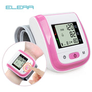 ELERA Portable Wrist Blood Pressure Monitor Automatic LCD display Gauge Wrist Blood Pressure Meter pulsometer Tonometer - Roshyshine