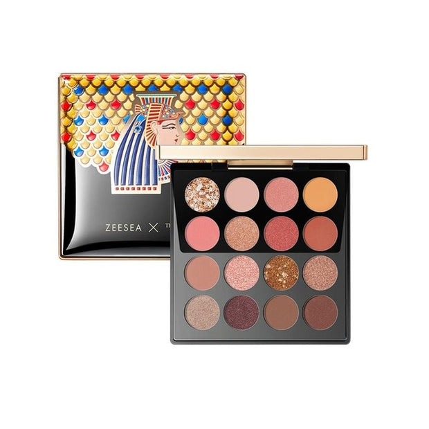 ZEESEA New 16 Colors Eyeshadow Palette Matt Shinning Giliter Waterproof Pigment Shimmer Eye Shadow Pallete Powder Cosmetic Tool - Roshyshine
