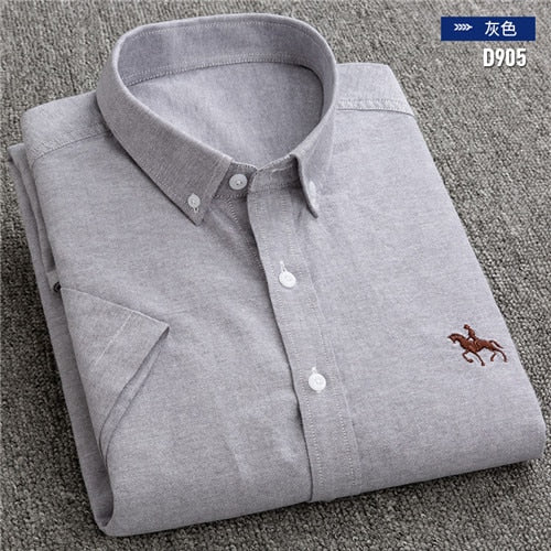 DAVYDAISY 2019 New Summer Men Shirt 100% Cotton Short Sleeved Comfortable Causal Twill Fashion Shirts Men Brand Clothing DS-260 - Roshyshine