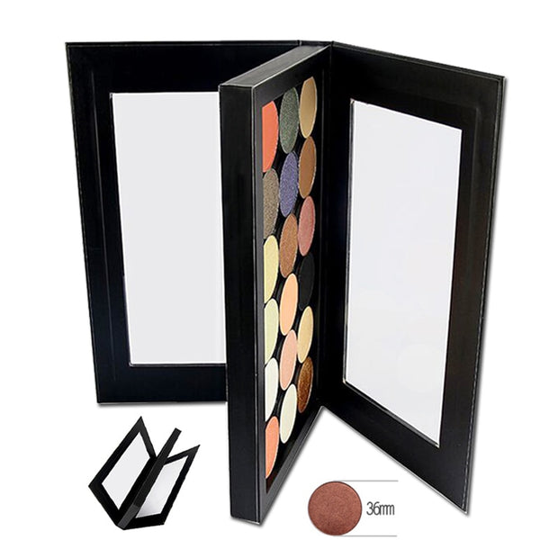 Empty Eyeshadow Palette Double-sided Magnetic Black Large Naked Eye shadow Makeup Palette DIY Refill 36*36mm Pans - Roshyshine