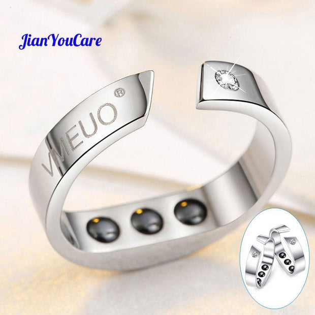 Anti Snore Ring Magnetic Therapy Acupressure Treatment Against Snoring Device Snore Stopper Finger Ring Sleeping Aid sleep help - Roshyshine
