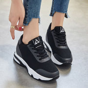 Women Winter Fashion Sneakers Height Increased Casual Shoes Lace Up Wedges Sneaker Shoes Woman Platform Sneakers Tenis XZ96