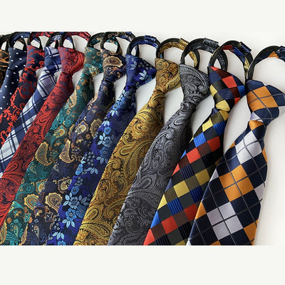 Men Adjustable Zipper Ties - Roshyshine