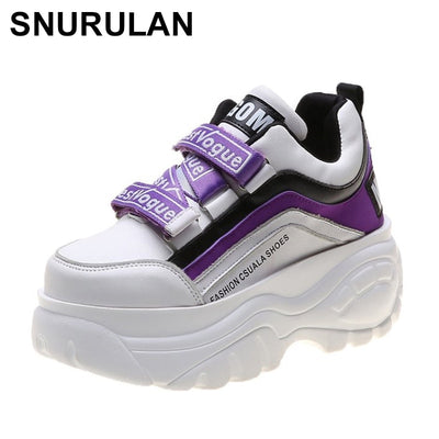 Women's sneakers-columns; 2020 collection fashionable sneakers on the platform casual shoes with wedge