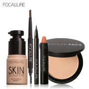 FOCALLURE New 5Pcs New Women Value Pack Makeup Set Gift Liquid Eyeliner Eye Liner Pen Eyebrow Pencil Sexy Lipstick Matte Colors - Roshyshine